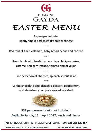 EASTER MENU aude flyer copy
