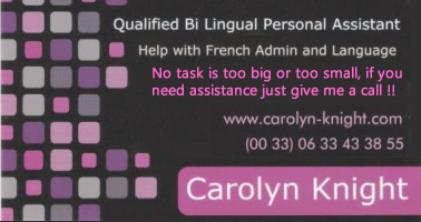 carolyn b card extra text pink